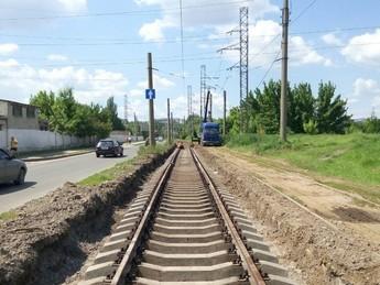 Реконструкция трамвайных путей по ул. Моисеевской